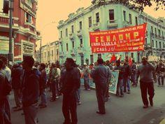Manifestantes mostrando su repudio al actual gobierno [Foto: Candy Castro / Spacio Libre]
