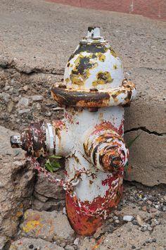 Old fire hydrant in Jerome, Ariz