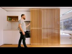 redesigns and remakes tiny apartments into luxurious living spaces. - - Guy redesigns and remakes tiny apartments into luxurious living spaces. Tiny Apartments, Tiny Spaces, Studio Apartments, Apartment Living, Apartment Interior, Apartment Layout, Apartment Kitchen, Small Space Living, Living Spaces