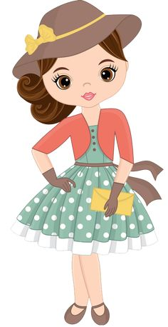Girl Cartoon, Cute Cartoon, Cute Images, Cute Pictures, Baby Clip Art, Paper Dolls Printable, Cute Little Girls, Cute Dolls, Cute Illustration