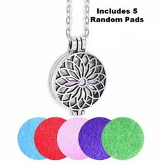 Vintage Style Aromatherapy Essential Oil Diffuser Locket Necklace - 16 Styles Available