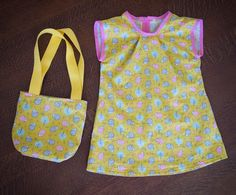 Robe d'été enfant taille 3 ans et tote bag assorti #sewing Sewing Projects, Diy Projects, Reusable Tote Bags, Fashion, Human Height, Kid, Dress, Moda, Fashion Styles
