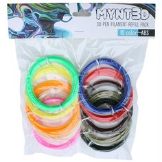 Design; In 10 Color, 3m Each Mynt3d Abs 3d Pen Filament Refill Pack Novel