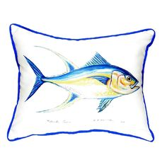 Tuna Extra Large Zippered Indoor or Outdoor Pillow 20x24 Extra large indoor/outdoor pillows with a zippered cover and a removable polyfill insert. Square pillows measure 22x22 and rectangular pillows measure 20x24