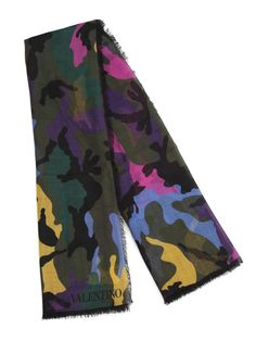 Valentino Camouflage Multi Color Scarf Size One Size $215 - Grailed