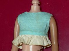 Vintage Skipper Young Ideas Blue Blouse with White Ruffle | eBay