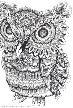 owl by Teo-dor.deviantart.com on @deviantART