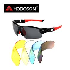 fdec8378c3 1019 HODGSON Brand Unisex Detachable Professional Cycling Sunglasses Set  Men s Outdoor Polarized Bicycle Glasses Sports Eyewear