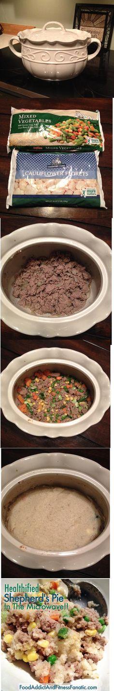 Lightened up Shepherd's Pie! Turkey instead of lamb and cauliflower ...
