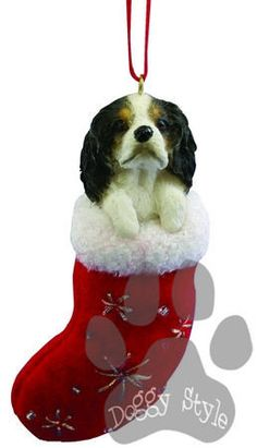 Santa's Little Pals Cavalier King Charles Spaniel Christmas Ornament http://doggystylegifts.com/products/santa-s-little-pals-cavalier-king-charles-spaniel-christmas-ornament