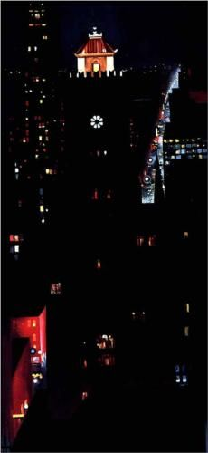 """""""New York Night"""",  Georgia O'Keeffe, Almost Photographic in It's Look , It's So Precise."""