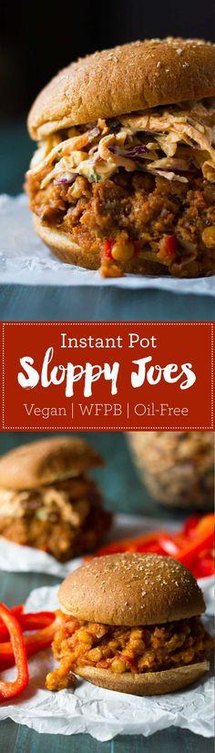 Instant Pot Vegan Sloppy Joes | Recipe | Plant-based | Oil-free | Vegan | http://www.eatwithinyourmeans.com/ via @eatwithinmeans