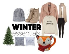 """""""Winter Essentials"""" by itsanathaliej ❤ liked on Polyvore featuring moda, Rochas, The Elder Statesman, River Island, Sterling e St. Nicholas Square"""
