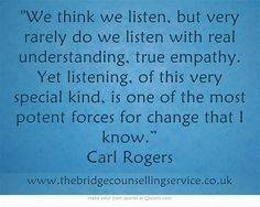 This is the kind of listening you want from your counsellor.