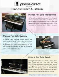 Pianos Direct Australia is one of the leading Piano Shop in Australia, provides the best deal on piano for sale in Melbourne, Perth, Brisbane and Sydney. Yamaha Piano Sales, shop direct and save with 10 year warranty for all Pianos. We sell the best Quality Pianos in Australia Wide delivery with 10 year warranty for all Pianos. You can save a lot more by purchasing direct from us. Perth, Brisbane, Melbourne, Sydney, Piano Shop, Piano For Sale, Yamaha Piano, 10 Years, Delivery