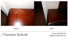 Dresser: Nail-polish mark/stain. #Furniture #Dresser #Repair #Restoration  #Refinishing #Touchup