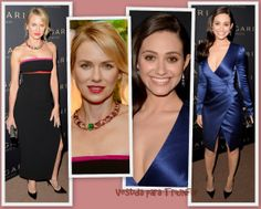 Naomi Watts de Altuzarra y Emmy Rossum de J. Mendel an la BVLGARI Decades Of Glamour Oscar Party