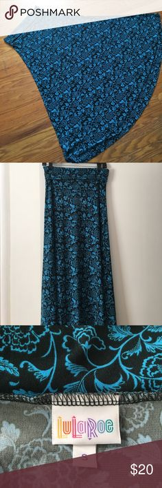 LuLaRoe Maxi skirt size Small. EUC Beautiful LuLaRoe Maxi skirt.  Size Small.  Worn multiple times and washed per LLR guidelines and it still looks brand new! Only selling because I need to clear out my personal closet!     MAXI SKIRT  The Maxi skirt is a go-to piece for the woman who wants to be comfortable throughout the day but still likes to look her best. It's perfect for the woman whose demanding day requires function and style from her wardrobe. LuLaRoe Skirts Maxi