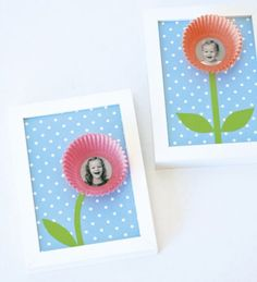 Diy smiling blooms from colored cupcake liners