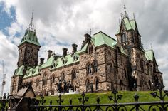 Stone Castle with Green Roof - parliament hill, ottawa