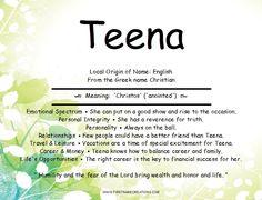 Teena Name Meaning