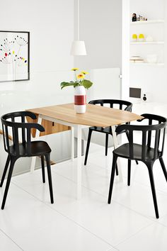 The IKEA PS 2012 drop-leaf table is made from bamboo, a material that's naturally strong, moisture-resistant and sustainable to grow.