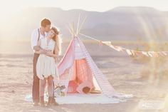 Love this bohemian style outfit for a romantic outdoor engagement photography session... paired with ankle boots, so cute.