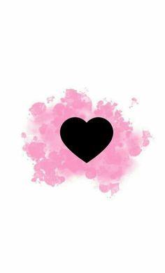 Destaque amor. #capa #destaque #destaques #instagram #rosa #preto #amor #amores #coração