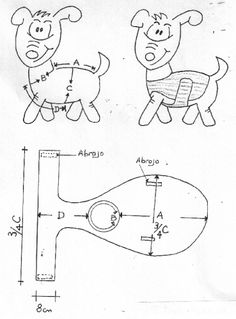 Risultati immagini per dog sweaters knitting patterns Dog Clothes Patterns, Coat Patterns, Sewing Patterns, Knitting Patterns, Small Dog Clothes, Pet Clothes, Puppy Crafts, Dog Coat Pattern, Pet Fashion