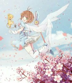 Kero-chan (Cerberus) and Sakura Kinomoto from Cardcaptor Sakura Anime Sakura, Manga Anime, Anime Art, Cardcaptor Sakura, Syaoran, Sakura Card Captors, Otaku, Xxxholic, Clear Card
