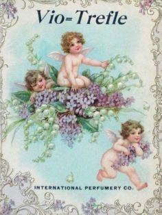 Gorgeous Antique Die Cut Perfume Advertisement  by KISoriginals, $139.00