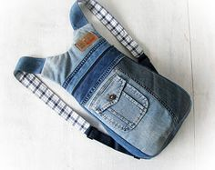 Unisex ipad jeans backpack Back to School ipad bag Denim rucksack Handmade patchwork backpack Jean backpack Recycled jeans Made with jean
