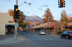 A main intersection in Taos,NM