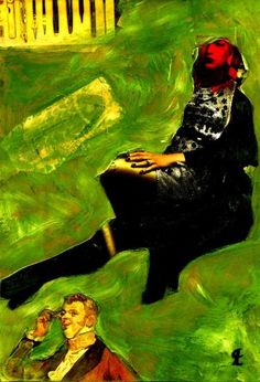 """Saatchi Art Artist CRIS ACQUA; Collage, """"48-LAUTREC x Cris Acqua."""" #art"""