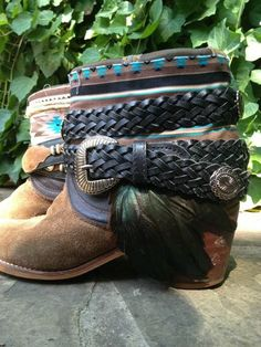 Feather Junkie Vintage Cowboy Boots Upcycled Funky Fun   eBay