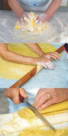 Quanta maestria nella preparazione dei maccheroncini di Campofilone (FM)