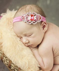 Another great find on #zulily! Hot Pink Rhinestone Headband by Nest Of Many Colors #zulilyfinds