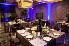 Platinum Events provided stunning lighting, decor, draping and florals for this 70th Birthday Bash. Photos by David Turner Photography