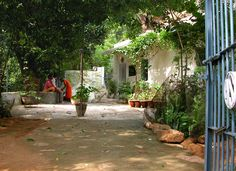Yard in front of the Virupaksha Cave