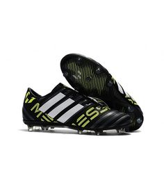 new style e7840 1093d Adidas Messi Nemeziz 17.1 FG FODBOLDSTØVLE BLØDT UNDERLAG fodboldstøvler  sort hvid Gul