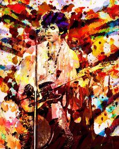Impresión del arte del príncipe impresión pintura por RockChromatic