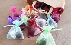 Seedball Gastgeschenk im Organzabeutel - verschiedene Farben und Sorten Produktbild