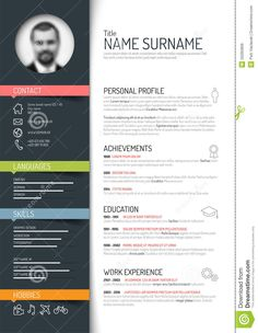 Cv / Resume Template - Download From Over 42 Million High Quality Stock Photos, Images, Vectors. Sign up for FREE today. Image: 50265809