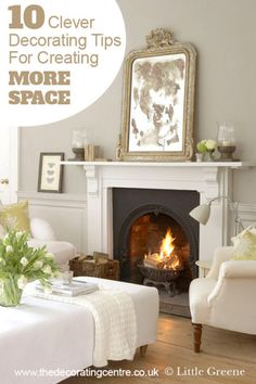 10 Clever Decorating Tricks to Make a Room Look Bigger - create the illusion of more space in your home...