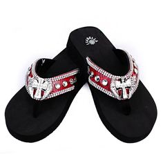 Southern Style, 9 And 10, Flip Flops, Bling, Boutique, Sandals, Red, Shoes, Collection