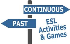 Inspiring selection of free ESL EFL teaching activities and games about the past continuous tense for English teachers to use in class.