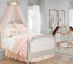 Blythe Tufted Bed #pbkids Want this bed and bedding for Adleys new room. We finally both agree