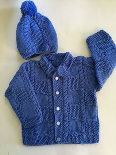 Diy Crafts - Jacket takes between 2 and 4 balls depending on size. Baby Boy Cardigan, Knitted Baby Cardigan, Knit Baby Sweaters, Knitted Baby Clothes, Girls Sweaters, Baby Cardigan Knitting Pattern Free, Baby Boy Knitting Patterns, Knitting For Kids, Baby Patterns