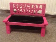 Bench planter, Mother's Day woodwork