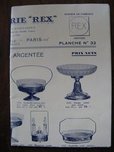 Old vintage French advertising, goldsmiths REX, rue du Temple, Paris, of the 30s #REX